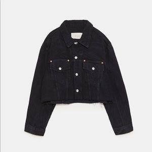 Zara Premium Cropped Denim Jacket